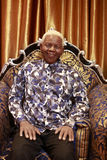 Figura de cera de Nelson Mandela foto de stock royalty free