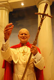 Figura de cera de papa Juan Pablo II imágenes de archivo libres de regalías