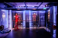 Figura de cera de Tony Stark el hombre del hierro de los tebeos de la maravilla en museo de señora Tussauds Wax en Amsterdam, Paí Foto de archivo