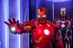 Figura de cera de Tony Stark el hombre del hierro de los tebeos de la maravilla en museo de señora Tussauds Wax en Amsterdam, Paí Imagen de archivo libre de regalías