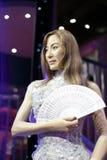 Figura de cera do yeoh de Michelle foto de stock