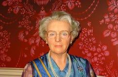 Figura de cera holandesa de la reina Juliana imagen de archivo