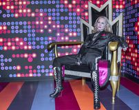 Figura de cera de Madonna foto de archivo