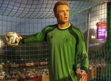 Figura de cera de Manuel Neuer imagem de stock