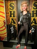 Figura de cera Olivia Newton-John de la 'grasa' imagen de archivo libre de regalías