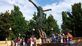 Figura de Cristo aumentado em Medjugorje, em Bósnia e em Herzegovina imagem de stock