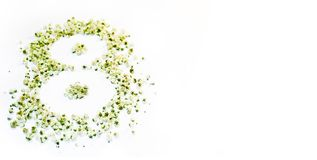 Figura 8 de flores brancas pequenas Imagens de Stock Royalty Free