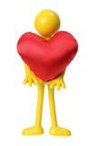 Figura de goma con el corazón del amor Imagen de archivo