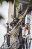 Figura de Jesús en la cruz Imagenes de archivo