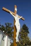 A figura de Jesus crucificou na cruz Imagem de Stock Royalty Free