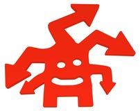 Figura de la historieta de la flecha Imágenes de archivo libres de regalías
