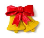 Figura de la plastilina de las campanas de la Navidad Fotos de archivo libres de regalías