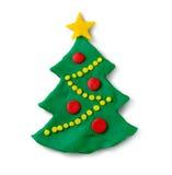 Figura de la plastilina del árbol de navidad Imágenes de archivo libres de regalías