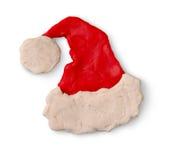 Figura de la plastilina del sombrero de Papá Noel Fotos de archivo libres de regalías