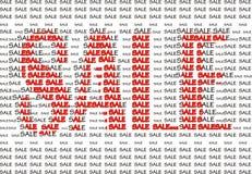 Figura de la venta de las palabras Imagen de archivo libre de regalías