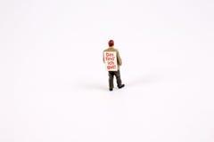 Figura de los avisos de la venta del sandwichman Imagenes de archivo