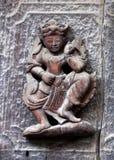 Figura de madeira cinzelada antiga em Shwe Nan Daw Kyaung, Myanmar Foto de Stock Royalty Free