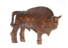 Figura de madera del bisonte Imagen de archivo