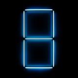 Figura de néon oito Imagem de Stock
