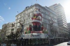 Figura de Papá Noel del gigante en Auckland Fotografía de archivo
