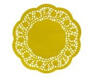 Figura de papel guardanapo - amarelo Foto de Stock