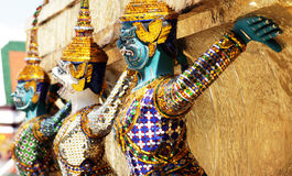 Figura de Ramayana en el templo del prakaew de Wat, Tailandia Fotos de archivo libres de regalías
