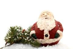 Figura de Santa na neve Fotos de Stock Royalty Free