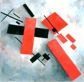 Figura de Suprematism na neve Foto de Stock