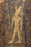 Figura de tamaño natural talla de Tutankhamun fotos de archivo libres de regalías