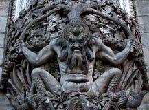 Figura de um monstro de mar em uma parede no Palacio a Dinamarca Pena, Sintra Imagem de Stock