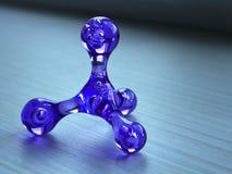 A figura de vidro da arte da abstração deixa cair o close-up borrada foto de stock royalty free