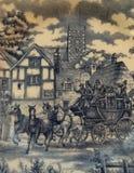 Figura dei cavalli di trasporto immagine stock