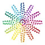 Figura dei punti, una ruota di colore Elemento decorativo di disegno Vettore royalty illustrazione gratis