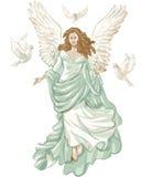 Figura del ángel con las palomas.