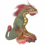 Figura del asiático de la fantasía ilustración del vector