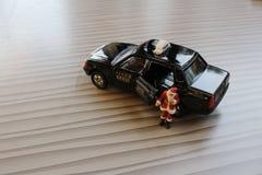 Figura del Babbo Natale in taxi Fotografia Stock