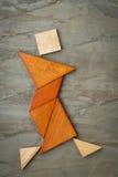 Figura del ballerino del tangram Immagini Stock Libere da Diritti