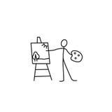 Figura del bastone dell'artista illustrazione vettoriale