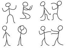 Figura del bastone di posizione di linguaggio del corpo della gente dell'uomo royalty illustrazione gratis