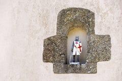 Figura del caballero de Templar foto de archivo libre de regalías