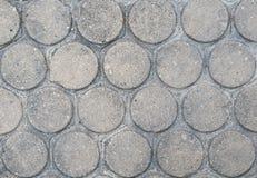 Figura del cerchio della pavimentazione del mattone Fotografia Stock