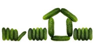Figura del cetriolo della casa Fotografia Stock