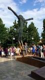 Figura del Cristo subido en Medjugorje, Bosnia y Herzegovina Fotos de archivo libres de regalías