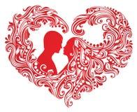 Figura del cuore. illustrazione vettoriale