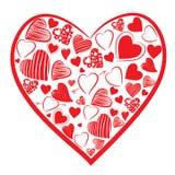Figura del cuore Immagine Stock