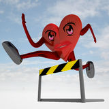 Figura del cuore che funziona per la migliore salute Immagine Stock