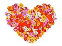 Figura del cuore con i fiori Fotografia Stock Libera da Diritti
