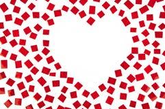 Figura del cuore con lo spazio della copia Immagini Stock