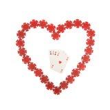 Figura del cuore con quattro assi all'interno Fotografie Stock Libere da Diritti