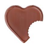 Figura del cuore del cioccolato Fotografie Stock